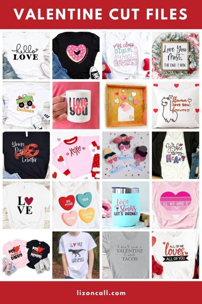 Valentine Cut Files Collage