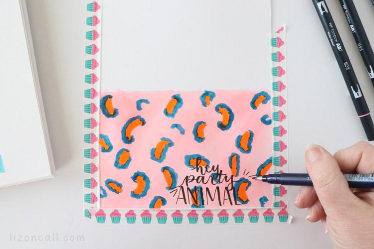 DIY Leopard Print birthday card