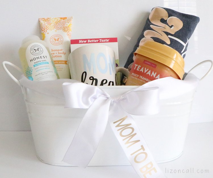 New Mom Gift Basket with Cricut