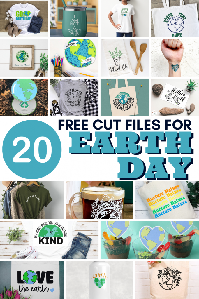 20 Free Cut Files For Earth Day