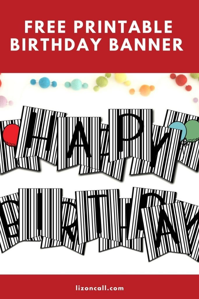 Free Printable Birthday Banner
