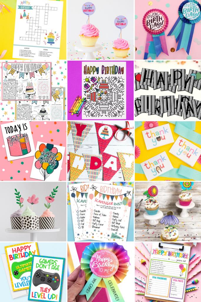 Birthday Printables