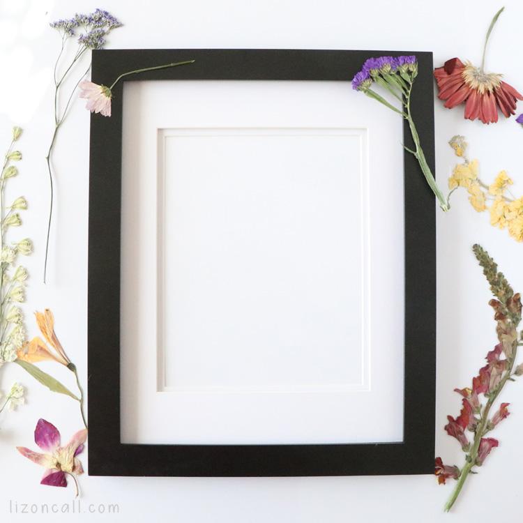 framed Pressed Flower Art 3