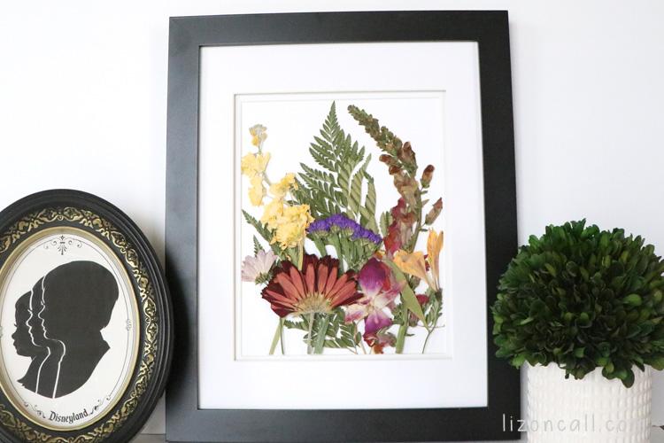 Easy Pressed flower wall art