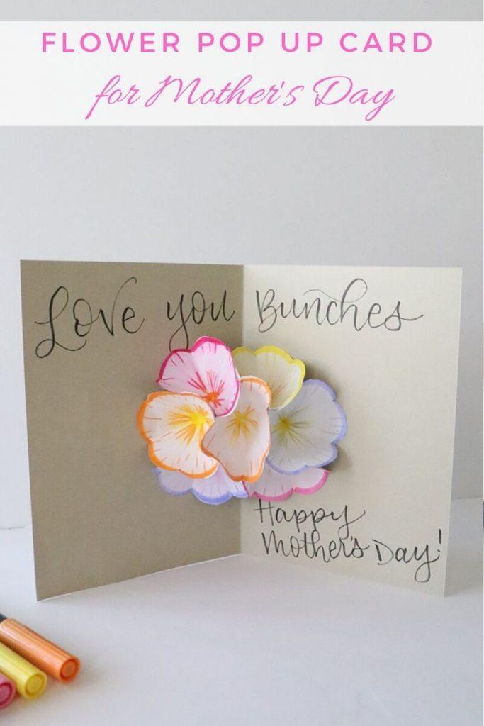 Flower Pop Up Card Liz Call 1