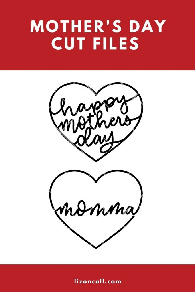 Mothers Day Cut Files Pin