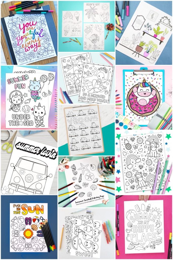 Coloring Pages Collage