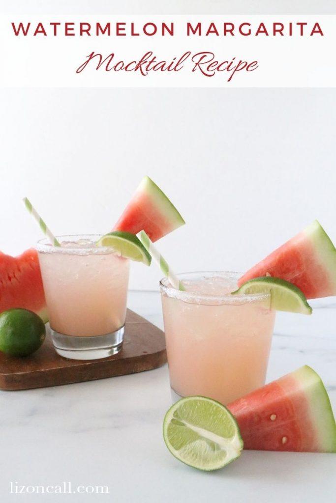 Watermelon Margarita Mocktail 1