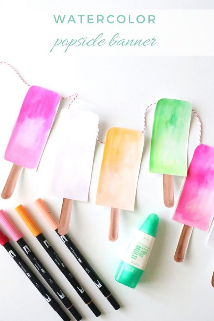 Watercolor Popsicle Banner 1