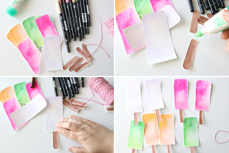 Watercolor Popsicle Banner 6