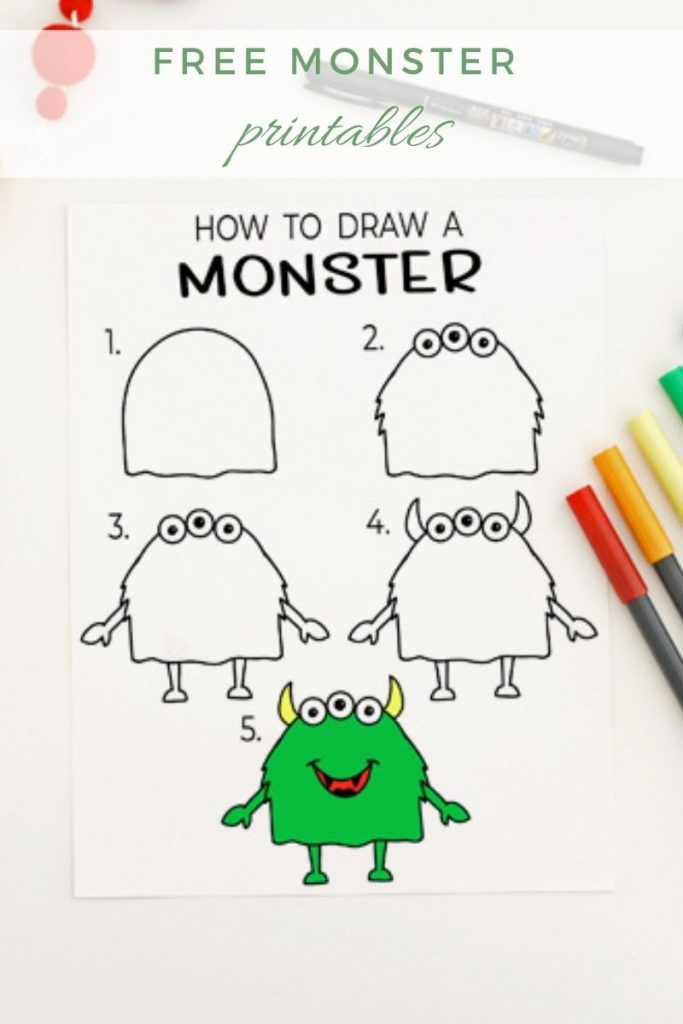 How To Draw A Monster 1