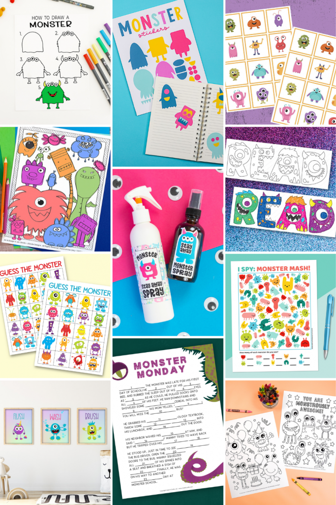 Monster Printables Collage