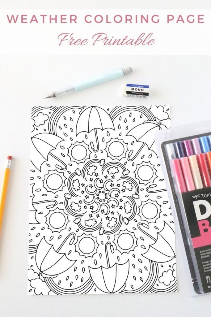 Weather Coloring Page 1