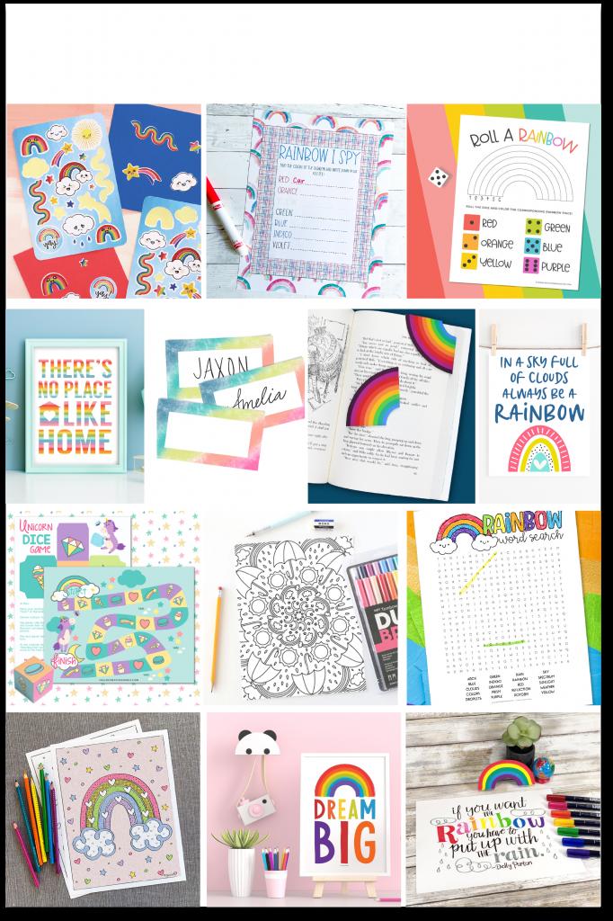 rainbow collage 1