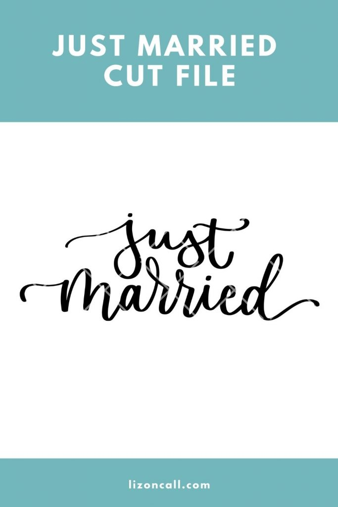 Just Married Cut File 1