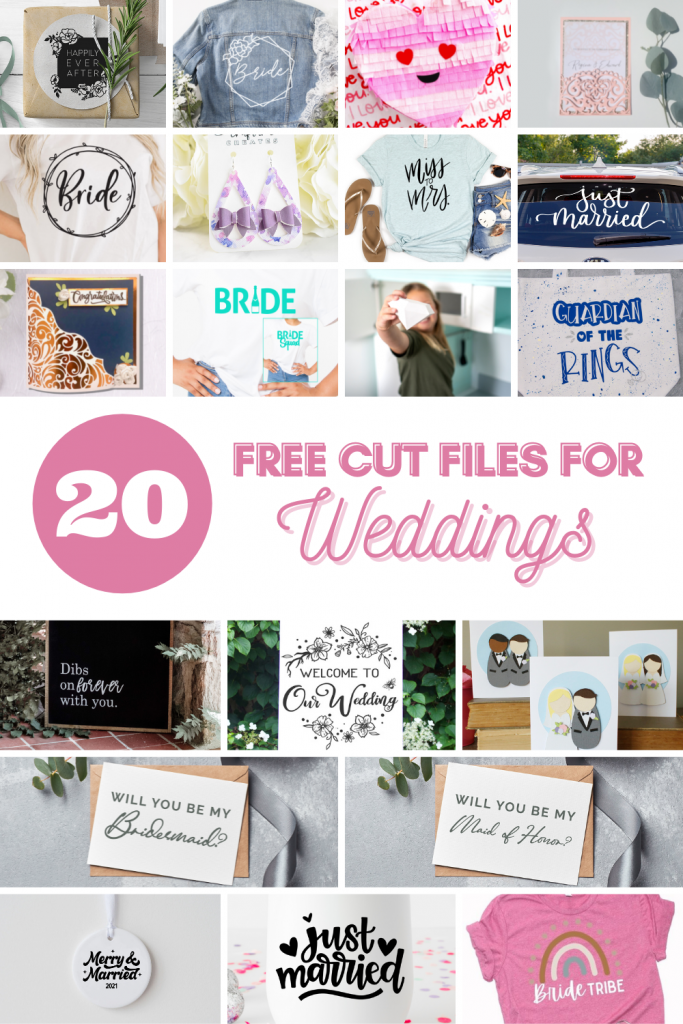 free cut files for weddings collage