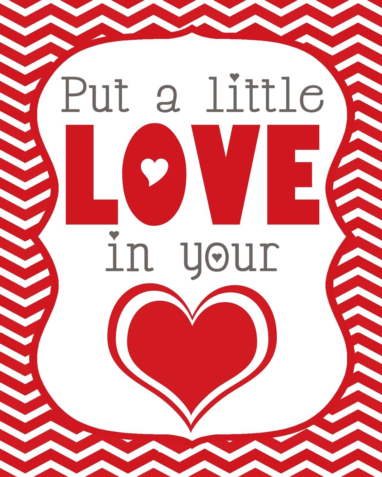 Valentineu0027s Love Printable