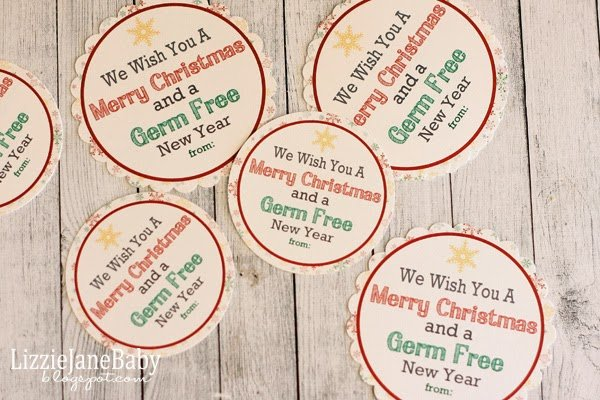 Germ Free New Year Gift Idea With Free Tags