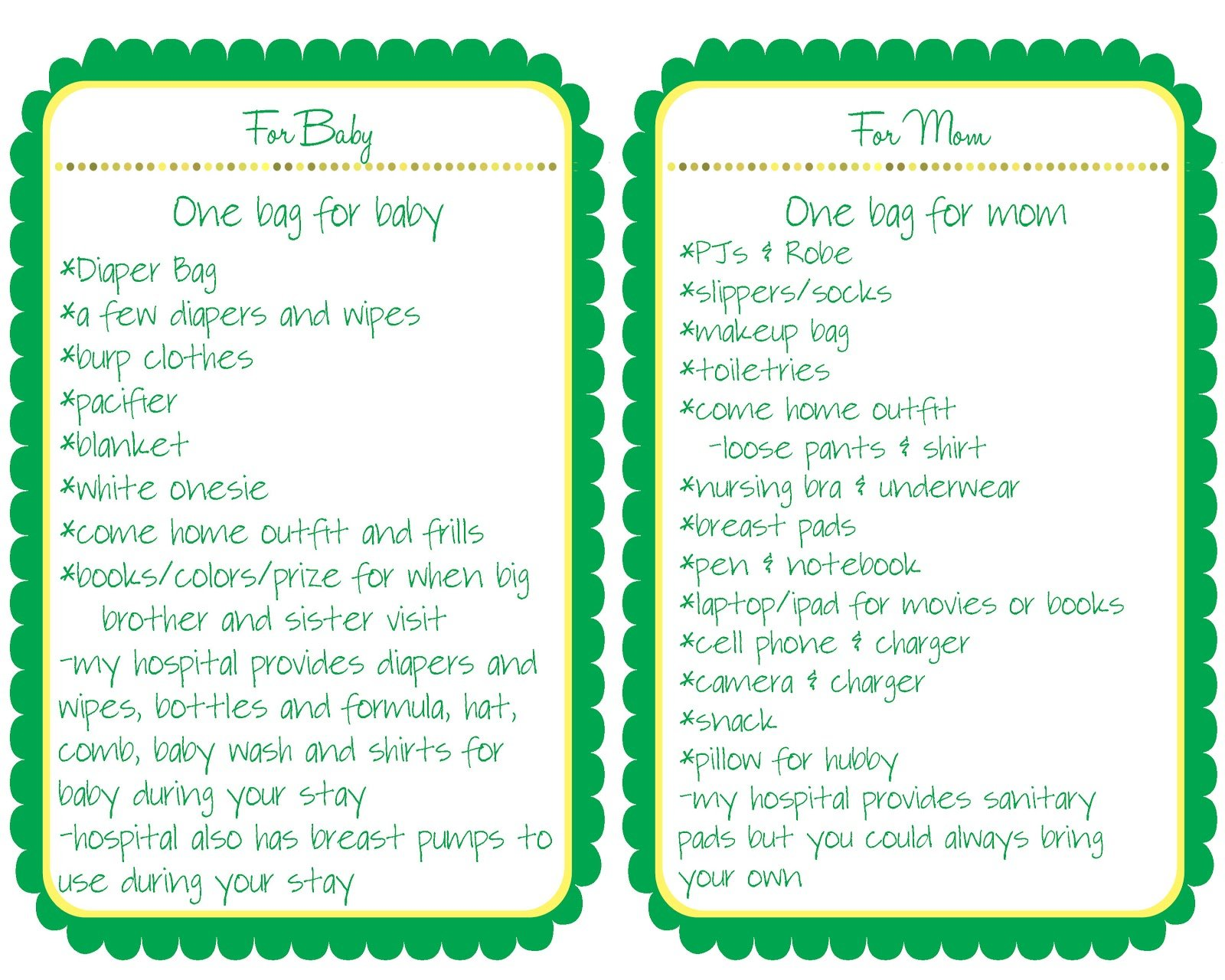 New Baby Hospital Packing List Liz On Call
