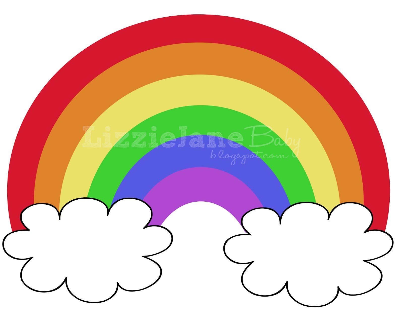 Accomplished image for printable rainbow