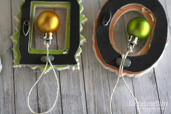 make sure your loop is the right size for hanging your ornament on your tree not too long not too short its an eyeball it kind of thing - Mini Picture Frame Ornaments