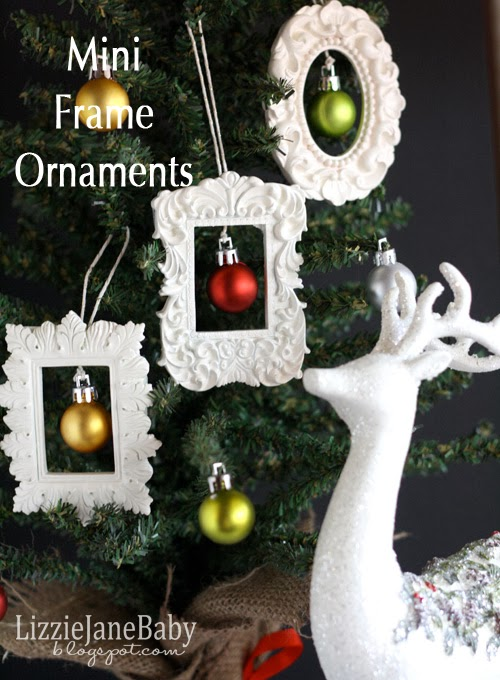 dont they look great all hanging on the tree - Mini Picture Frame Ornaments